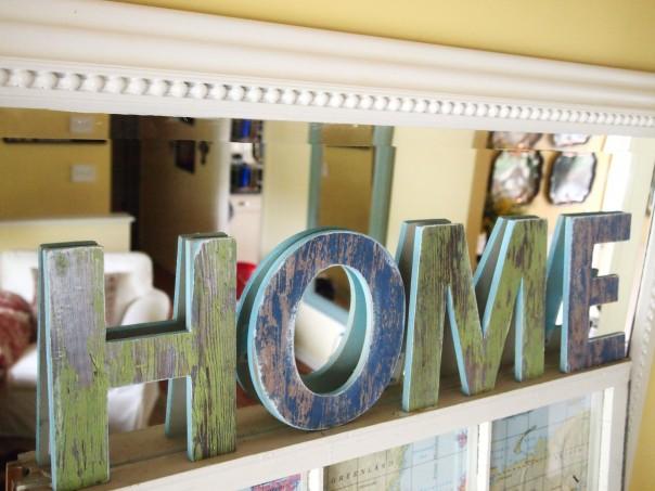 DIY faux barnwood craft letters
