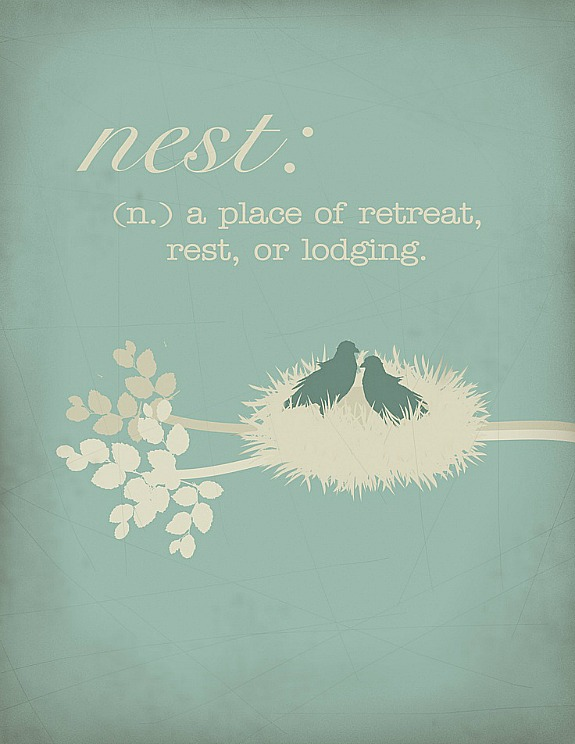 free nest printable by Darling Doodles