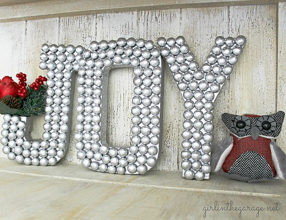 M&M covered craft letters
