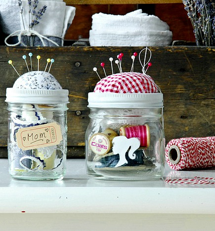 10 Pretty Mother's Day Gifts In A Jar - sewing kit
