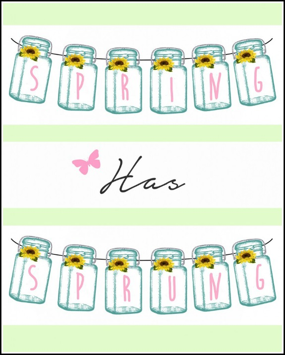 10 Free Spring Printables - Spring Has Sprung Printable from TidyLady