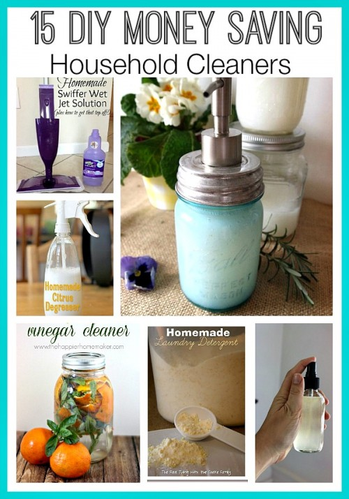 Great DIY Money Saving Household Cleaners - All of these great DIY money saving household cleaners will make your home sparkle! Plus, you'll save money and they smell great too. | #cleaning #homemadeCleaner #diyCleaner #naturalCleaner #ACultivatedNest