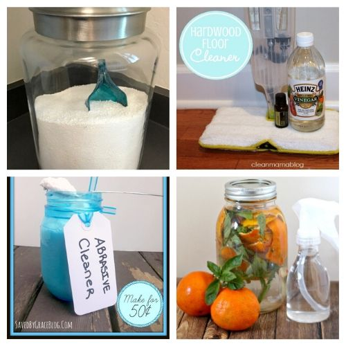 Great DIY Money Saving Household Cleaners - All of these Great DIY Money Saving Household Cleaners will make your home sparkle! Plus, you'll save money and they smell great too.   #ACultivatedNest