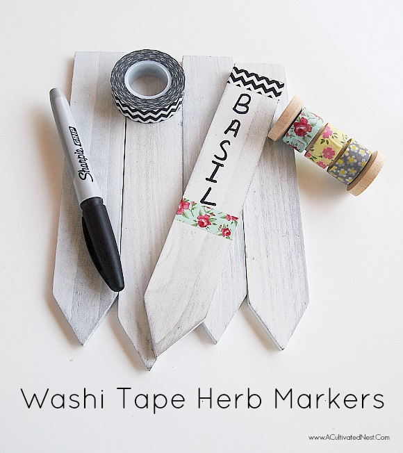 DIY Washi Tape Herb Markers for Your Container Herb Garden
