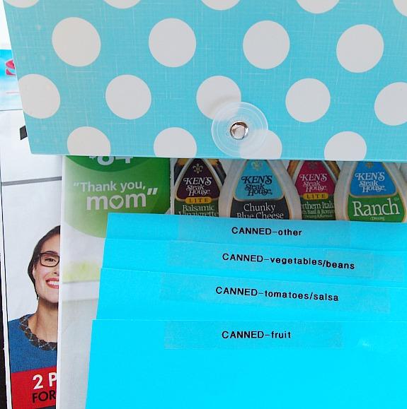 coupon organizing system