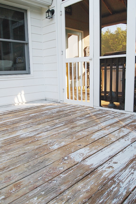 deck sanded before staining