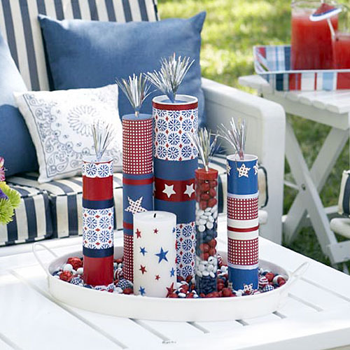DIY firecracker centerpiece from All You