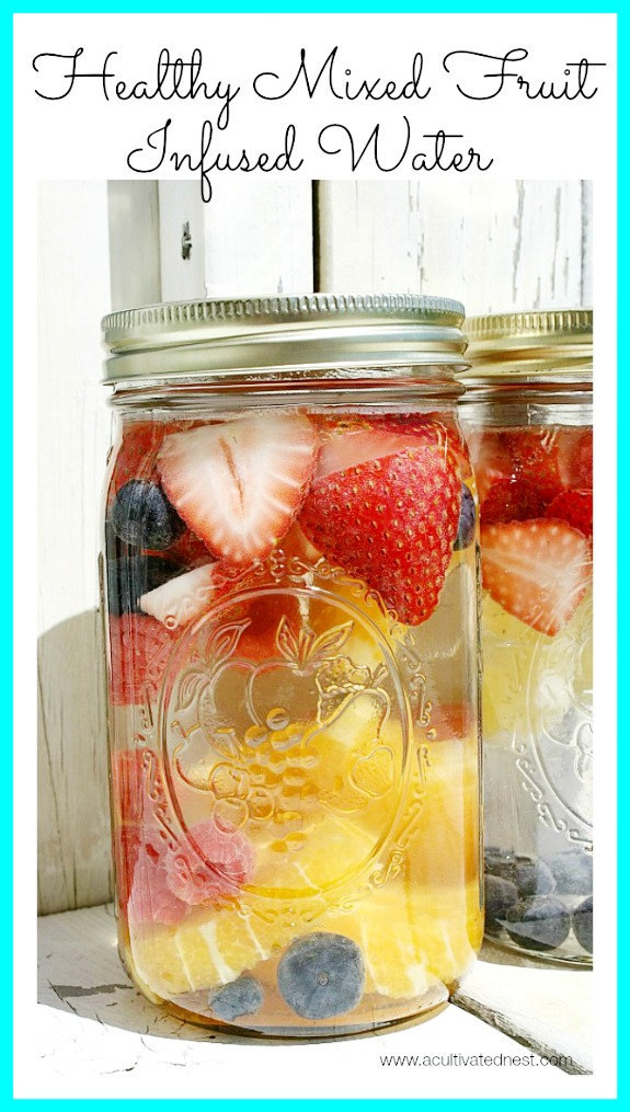 How to make this refreshing and delicious mixed fruit infused water