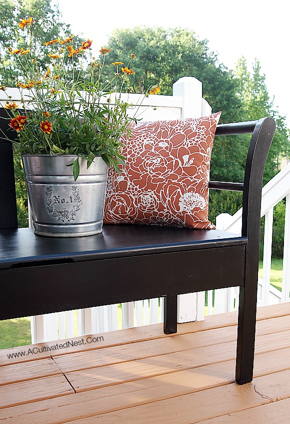Painted Bench Makeover