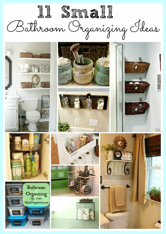 11 Small Bathroom Organization Ideas- Keeping a small bathroom neat and tidy isn't hard, if you have the right organization solutions in place! Check out these 11 fantastic small bathroom organizing ideas! They're really clever ways to maximize your bathroom storage! | how to organize a tiny bathroom, DIY organizing ideas, #organizingIdeas #organization #bathroomOrganization #organizing #DIY #DIYOrganization