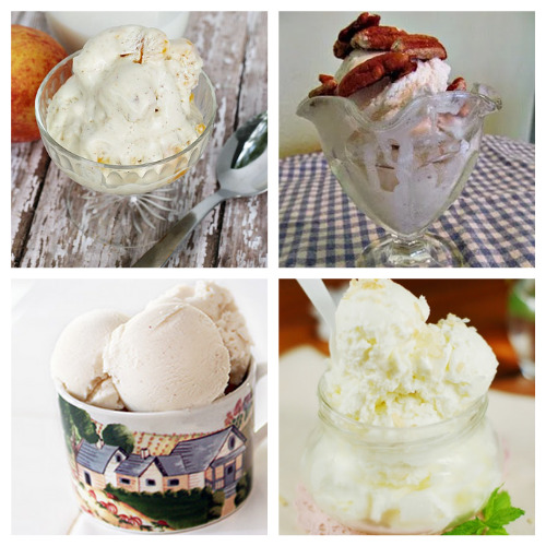 16 Mouth-Watering Ice Cream Recipes to Make from Scratch- Homemade ice cream is so much tastier than commercial ice cream! Here are some delicious homemade ice cream recipes for you to try this summer, many of which don't require an ice cream maker!   #recipes #desserts #homemadeIceCream #dessertRecipes #ACultivatedNest