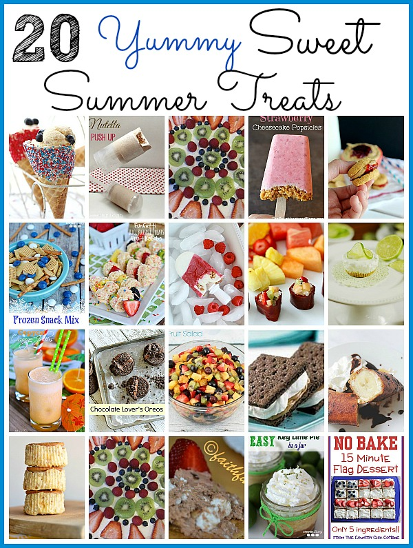 20 Yummy Sweet Summer Treats- These are some of the tastiest homemade sweet summer treats ever! They are calling your name and will keep you cool and refreshed this summer! | cold dessert recipes for summer, #recipe #dessert #iceCream #summer #ACultivatedNest