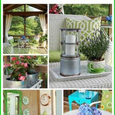 Come see this beautiful summer porch tour!