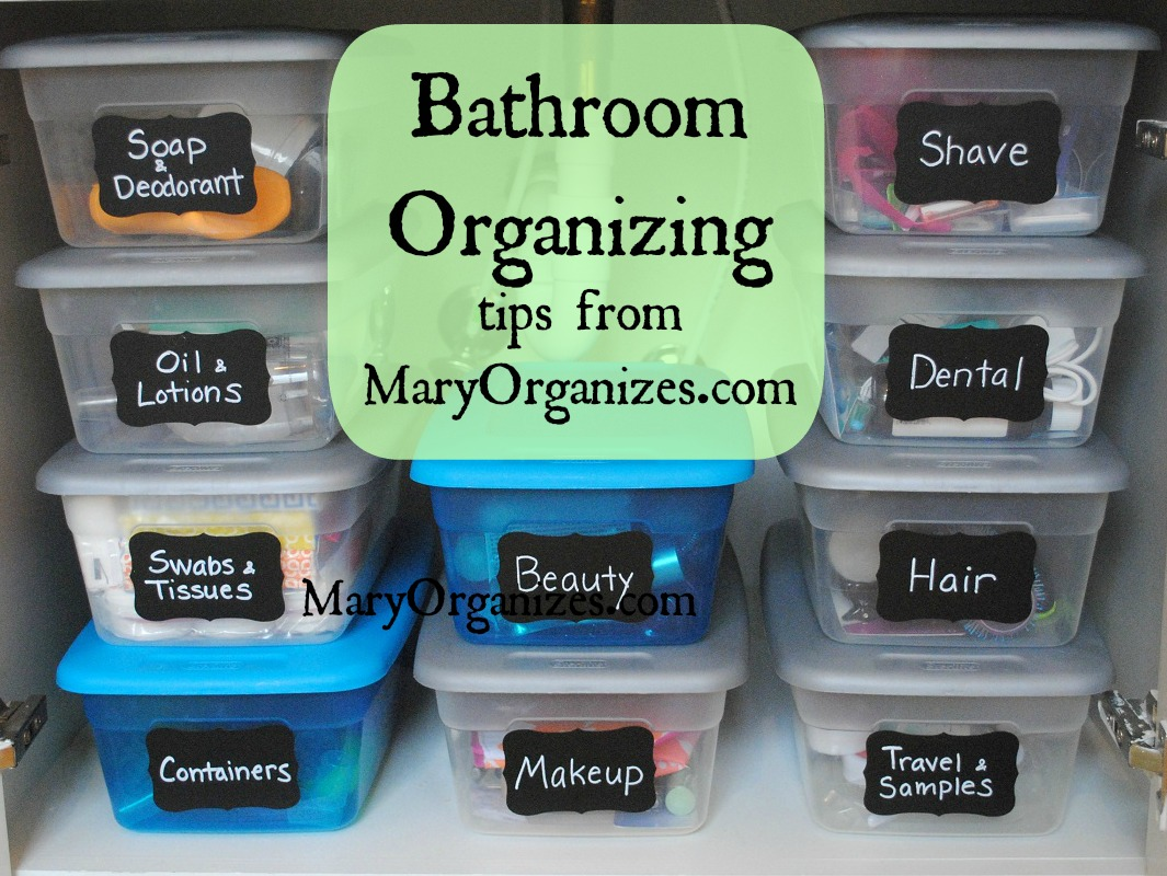 organize with plastic shoe boxes via Mary Organizes