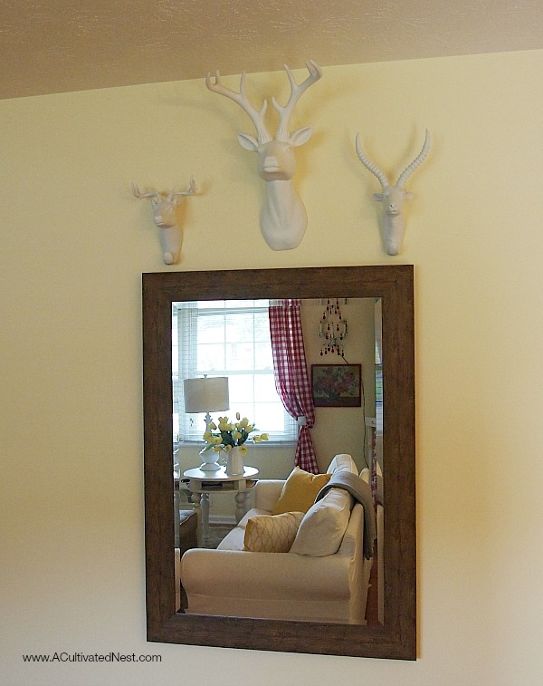 Creating a unique focal wall with faux taxidermy