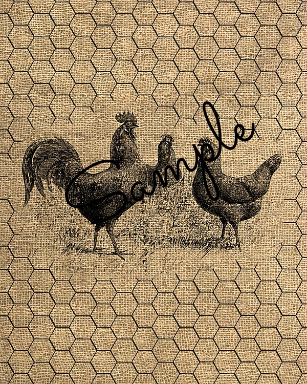 three chickens free printable
