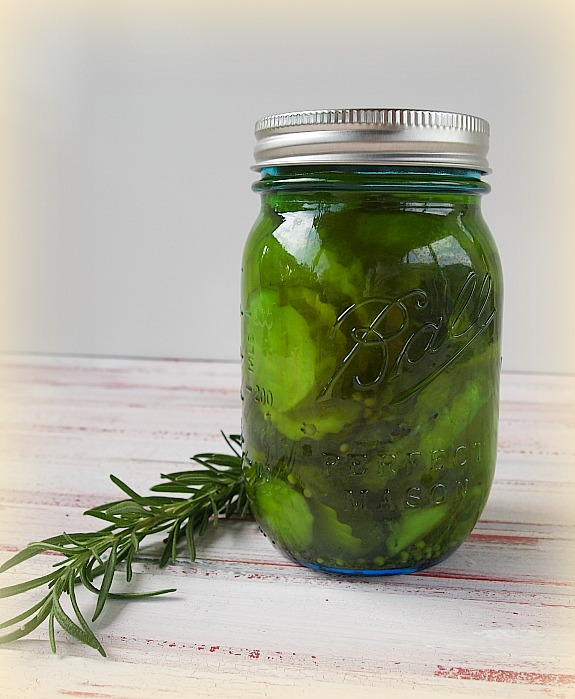 ball jar filled with pickles