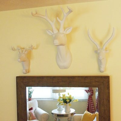 Decorating With Faux Animal Mounts