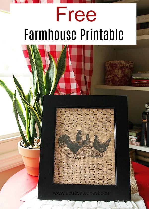 free farmhouse decor printable