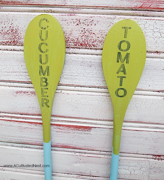 how to make wooden spoon plant markers