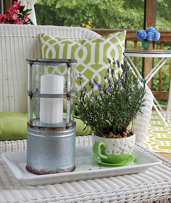industrial look galvanized lantern