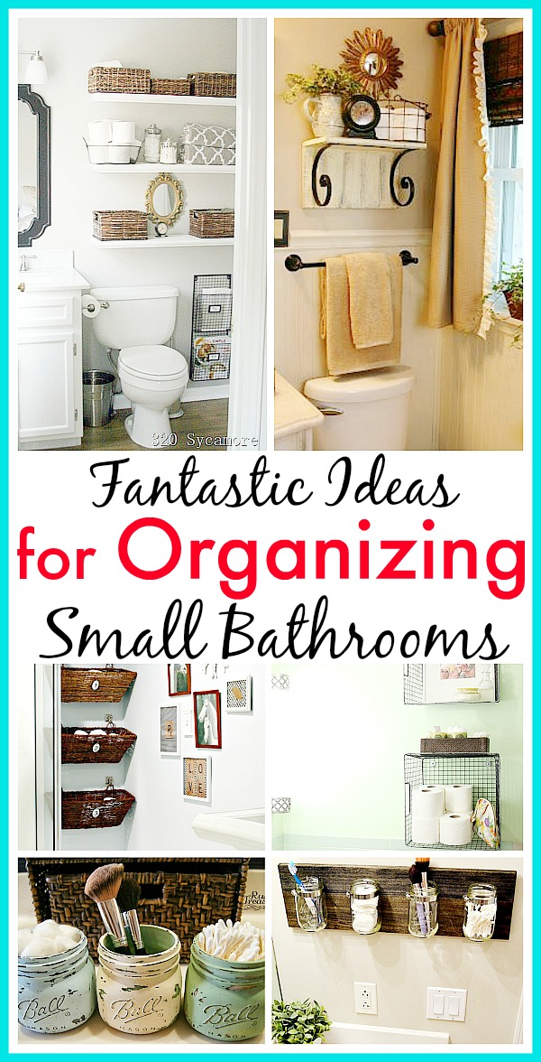 11 Small Bathroom Organization Ideas- If you want to organize a small bathroom in your home, then you need to see these 11 fantastic small bathroom organizing ideas! They're really clever ways to maximize your bathroom storage! | how to organize a tiny bathroom, DIY organizing ideas, #organizingIdeas #organization #bathroomOrganization #organizing #DIY #DIYOrganization
