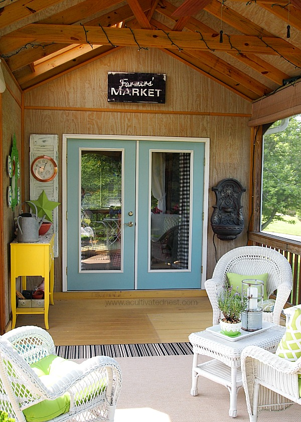 Summer screened in porch tour