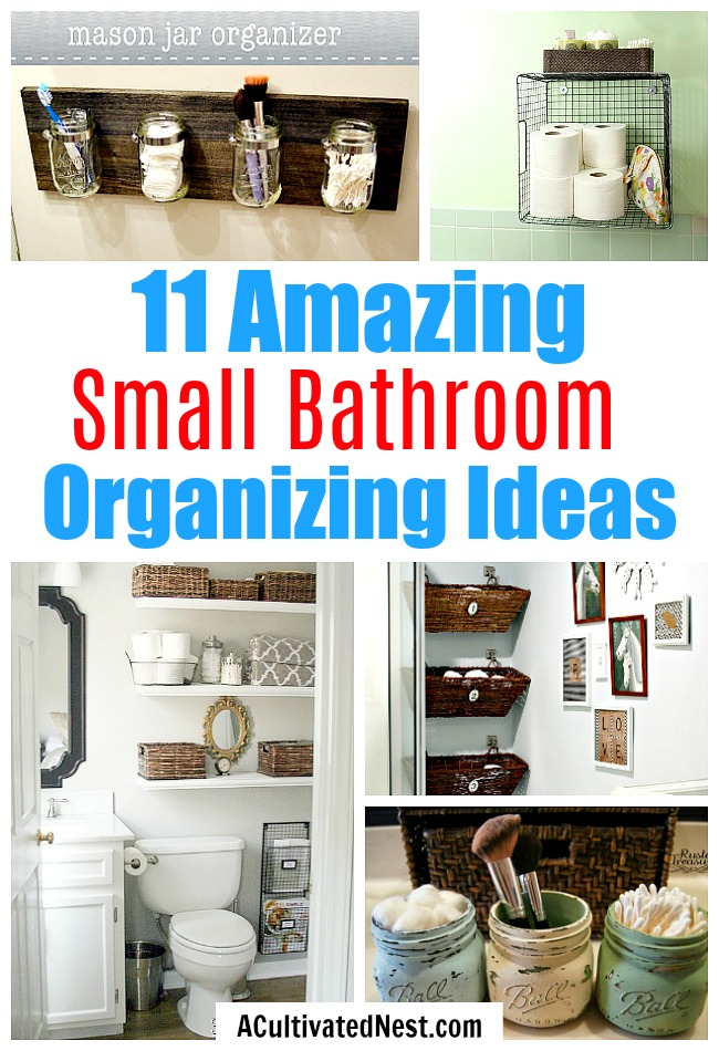 11 Small Bathroom Organization Ideas- The best way to deal with a small bathroom is to keep it well organized. If you want to organize a small bathroom in your home, then you need to see these 11 fantastic small bathroom organizing ideas! They're really clever, plus easy to implement! | how to organize a tiny bathroom, DIY organizing ideas, #organizing #organization #bathroomOrganization #organizingideas #DIY #DIYOrganization