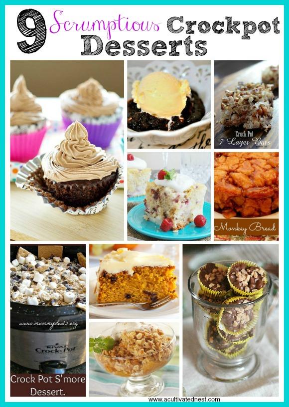 9 Scrumptious Slow Cooker Desserts