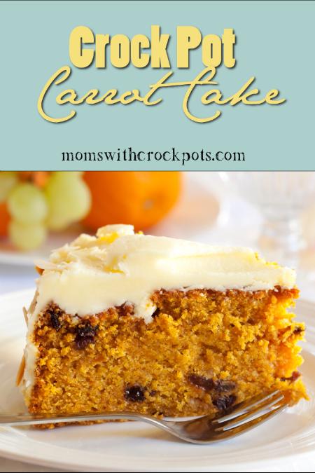 Crock Pot Carrot Cake by Moms With Crockpots
