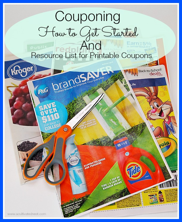 How To Get Started With Couponing Coupon Sites A Cultivated Nest