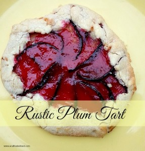 A Delicious Summer Fruit Dessert – Rustic Plum Tart