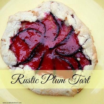 A Delicious Summer Fruit Dessert – Rustic Plum Tart