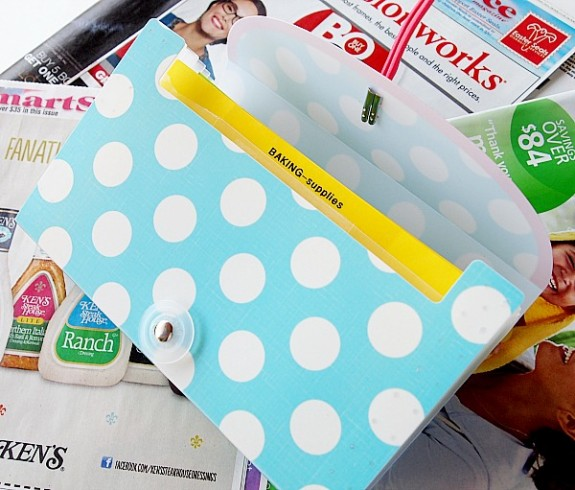 One way to organize coupons is to use a small expanding file -see how to use this system efficiently