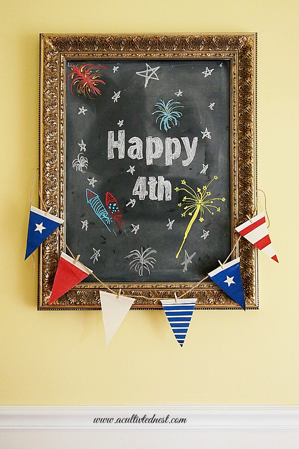 Fourth of July Chalkboard Art