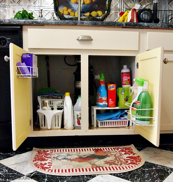 maximizing space under a kitchen sink