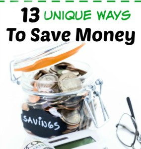 13 Unique Ways To Save Money