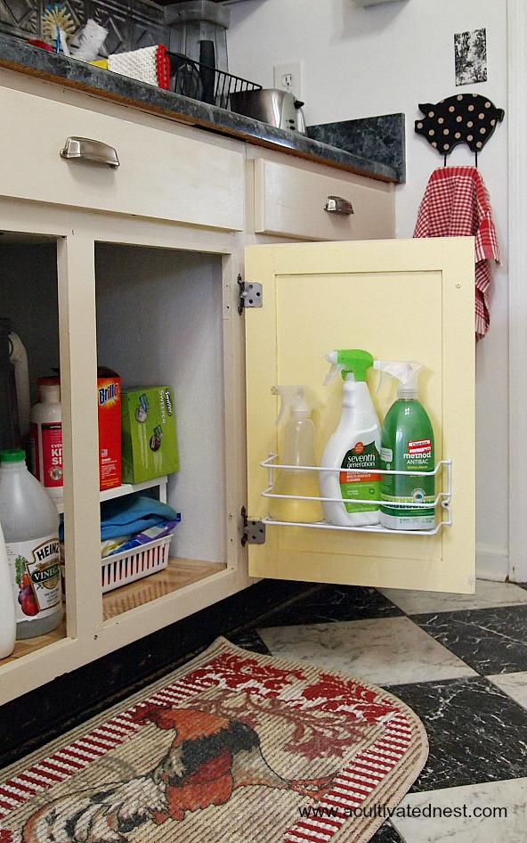 utilize the inside of doors when organizing
