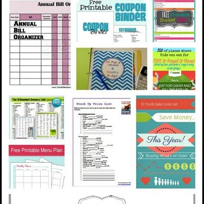 10 Printables To Save You Money