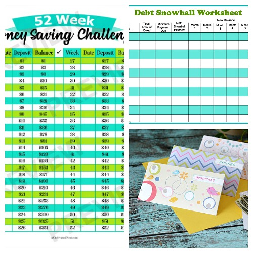 15 Free Printables to Save You Money- If you want to save money, you need to check out these 15 free printables! They'll help you to save money, plus keep your financial life organized!
