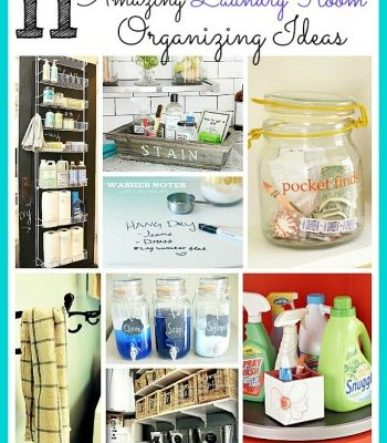 Check out these 11 amazing laundry room organizing ideas!