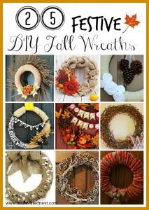 25 Festive DIY Fall Wreaths!
