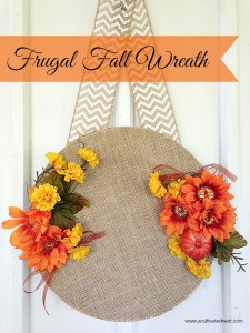 Easy Frugal Fall Wreath