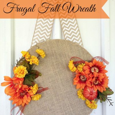 Super easy to make frugal fall wreath!