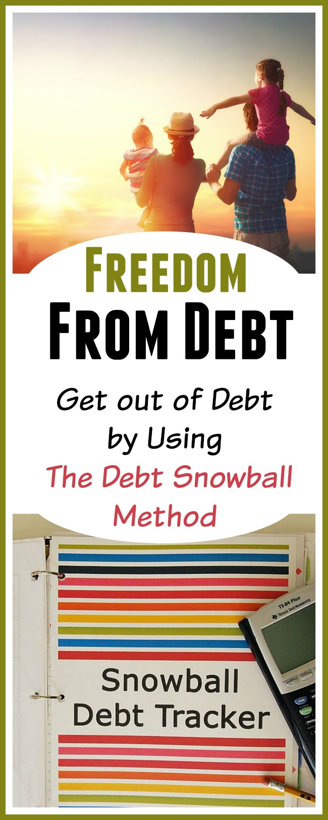 Get Out of Debt By Using The Debt Snowball Method - Are you trying to pay down debt but you're not getting anywhere? Consider using the debt snowball system to get rid of your debt for good. Here's how it works and also a list of Debt Snowball Calculators that you can use. | budgeting, how to get out of debt, paying off bills, #debtFree #debt #payOffDebt #payDownDebt #getOutOfDebt #debtSnowball #daveRamsey