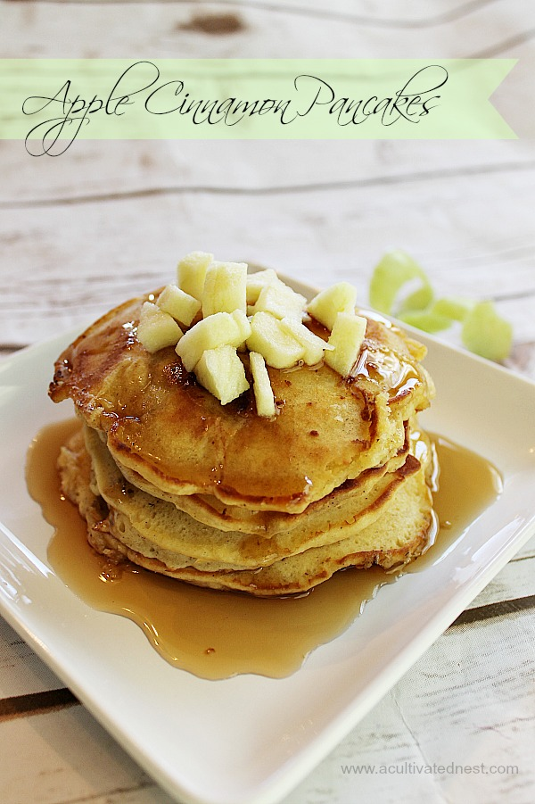 Melt in your mouth apple cinnamon pancakes made from scratch