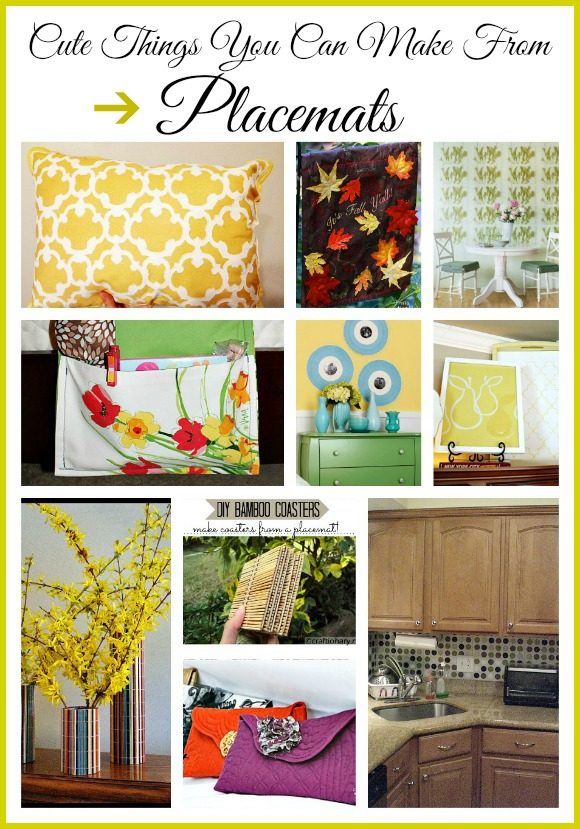 Cute things you can make with placemats