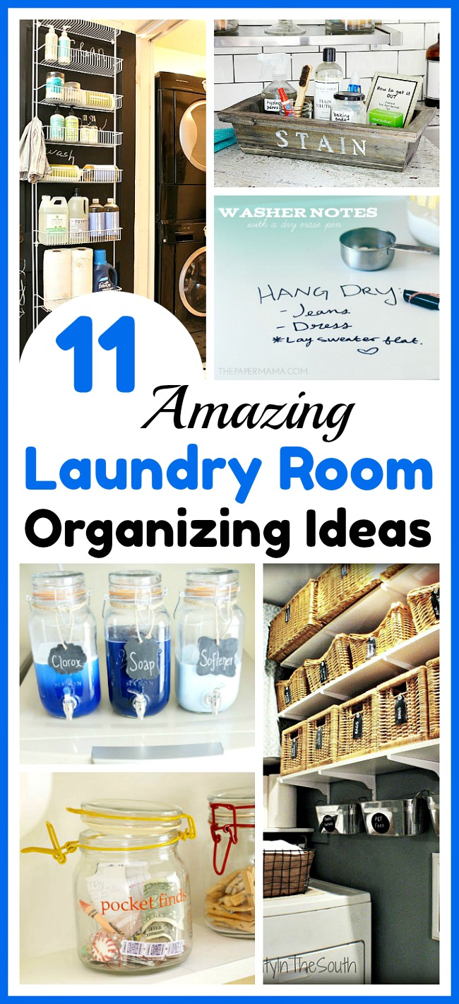 11 Laundry Room Organization Ideas- Can't stand how messy your laundry area is? Check out these 11 amazing laundry room organizing ideas! | organization tips, home organizing ideas, how to organize your laundry room, organizing hacks