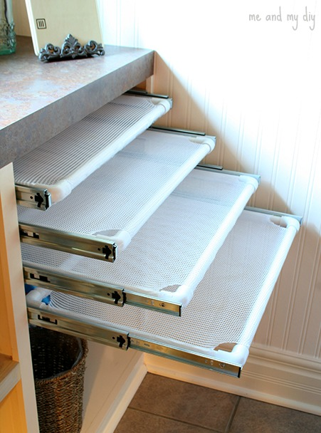 built in DIY drying rack from Me and My DIY