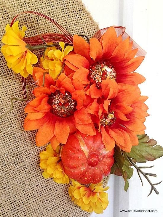 dollar store fall wreath